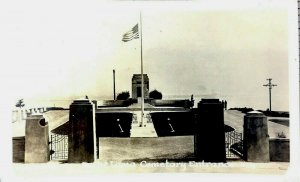 Postcard Point Loma Cemetery Entrance Fort Rosecrans San Diego CA Unposted RPPC