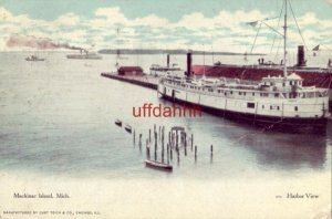 MACKINAC ISLAND, MI. HARBOR VIEW 1945