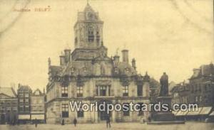 Delft Netherlands, Nederland Stadhuis met Standbeeld Minckelers  Stadhuis met...