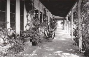 California Pacific Palisades The Porch Will Rogers Ranch Home Real Photo