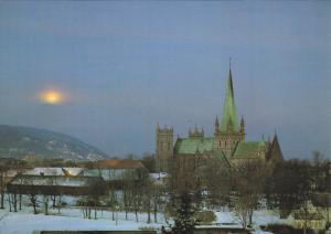 Winter Eve At The Nidaros Cathedral, Trondheim, Norway, 1960-1970s