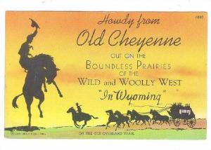 Howdy from Old Cheyenne, Wyoming, PU-30-40s