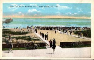 Florida Palm Beach High Tide At The Bathing Beach