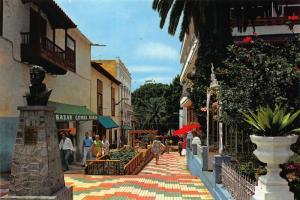 Spain Puerto de la Cruz Tenerife Typical Street Terrace Bazar Postcard