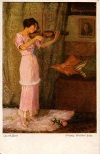 Letzte Rose         Artist Signed: Hedwig Wollner Pinx