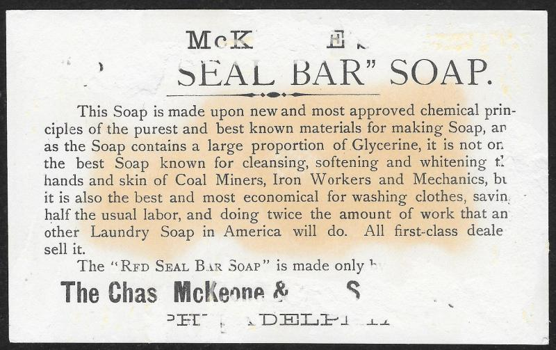 VICTORIAN TRADE CARD McKeone & Son Soap Black Woman Chinese Man White Women Wash