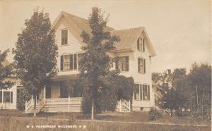 Hillsboro New Hampshire ME Parsonage Real Photo Antique Postcard K97069