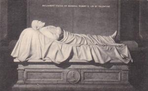 Virginia Recumbent Statue Of General Robert E Lee By Valentine