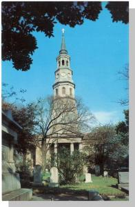 Charleston, SC Postcard, St Philip's Church, Near Mint!