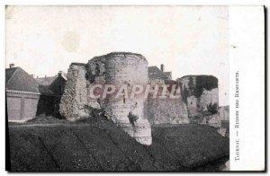 Postcard Ancient Ruins Tournai Des Remparts