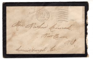 Mourning Cover w Letter to Sister, South Norwalk Connerticut to Nova Scotia 1915