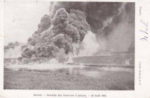 ANVERS, Belgium, 1904; Incendie des reservoirs a petrole