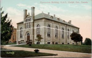 Gymnasium Building OAC Guelph Ontario ON Agriculture College Unused Postcard E19