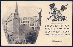 Knights of Pythias Convention Souvenir Boston unused c1908