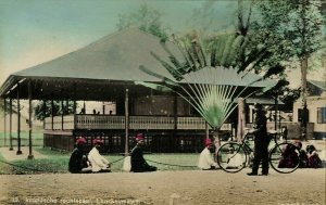 indonesia, SUMATRA, LHO-SEUMAWE, Aceh Atjeh, Native Court (1910s) Tinted RPPC
