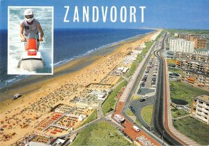 B109387 Netherlands Zandvoort Beach Promenade Plage Cars Voitures