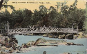 NIAGARA FALLS, Ontario, Canada, PU-1912; Bridge To Second Sister Island