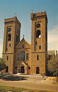 Beloit Kansas~St John's Catholic Church~Medieval Gothic~Flying Buttresses~1960s
