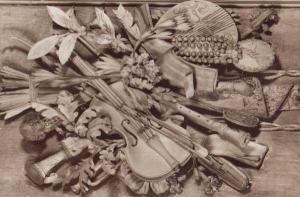 Petchworth House Violin Violins Engravings Sculpture Sussex Postcard