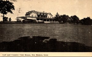 Iowa Des Moines Golf and Country Club House 1911