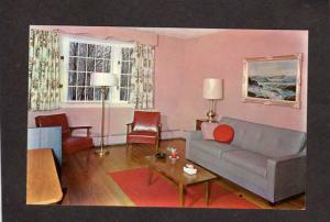 PA Country Surrey Inn Hotel  Motel Gouldsboro Pennsylvania Postcard Interior