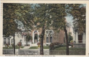 INDIANAPOLIS , Indiana , 1917 ; Residence of the Late James Whitcomb Riley