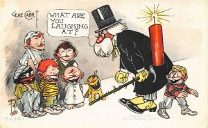 Artist Gene Carr 4th of July What Are You Laughing At? Firecracker Postcard