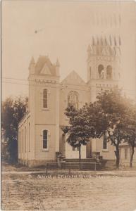 South Dakota SD Real Photo RPPC Postcard 1910 YANKTON Methodist Episcopal Church