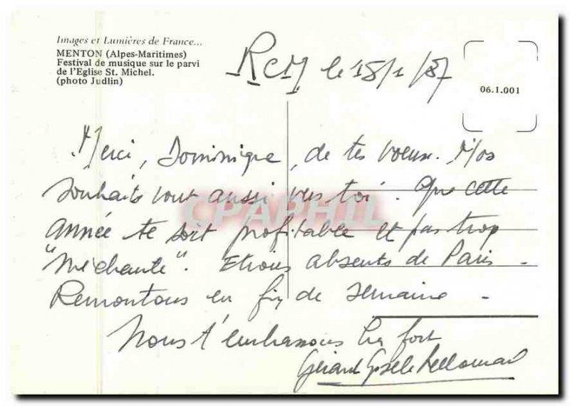 Modern Postcard Images & Lights of France Alpes Maritimes Menton Music Festiv...