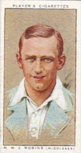 Player Vintage Cigarette Card Cricketers 1934 No 24 R M V Robins