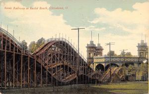 Cleveland~Euclid Beach Amusement Park~Roller Coaster~Hattie Having Fun Time~1912