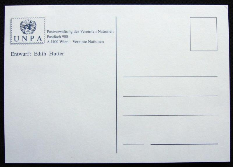 UN Vienna #102 on Unused Postcard L10