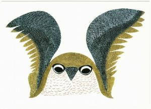 Curious Owl by Ohotaq Mikkigak Dorset Inuit Native American Art Postcard