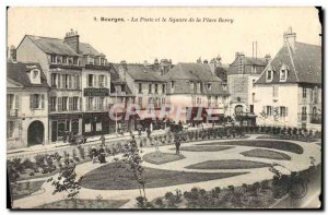 Old Postcard Bourges La Poste and the Square of the Place Berry