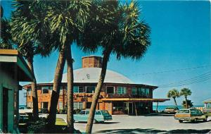 Sea Shell Hotel Clearwater Florida FL pm 1975 old cars palm trees Postcard