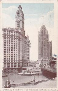 Wrigley Building And Tribune Tower Chicago Illinois 1936