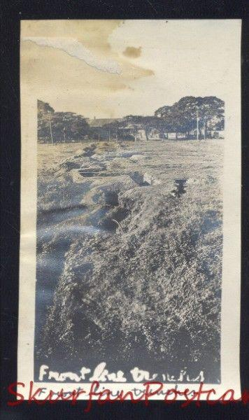 PHILIPPINE ISLANDS THE PHILIPPINES WWI BATTLE ACTION FRONT LINE TRENCHES PHOTO