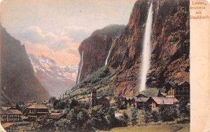 Lauter brunnen mit Staubbach Switzerland Unused