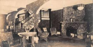 Manchester Vermont Worthy Inn Lobby Real Photo Antique Postcard J42859