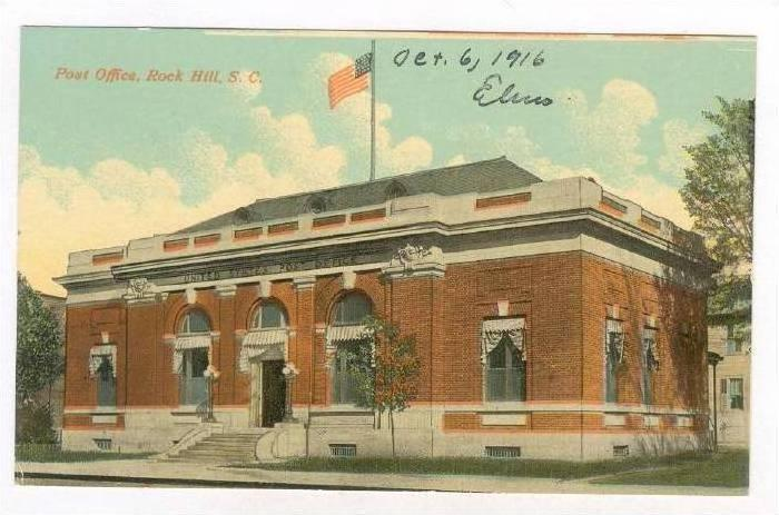 Post Office, Rock Hill , South Carolina, 1916