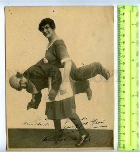 230382 RUSSIA Circus ventriloquist girl autograph 1928 year