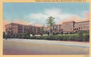 Rhode Island Providence College Of Education and Henry Baynard School Curteich