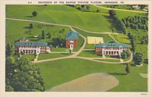 Virginia Abingdon Residence Of The Barter Theater Players