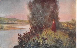 Postcard Malarstwo Polskie L. Stasiak, Wydawnictwo Polonia River Landscape