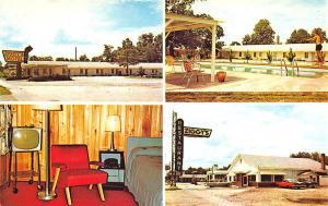 Bamberg SC Ziggy's Restaurant Motel Swimming Pool Old Cars Vintage Postcard