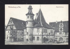 ROTHENBURG O TBR. HEGEREITERHAUS GERMANY ANTIQUE VINTAGE POSTCARD