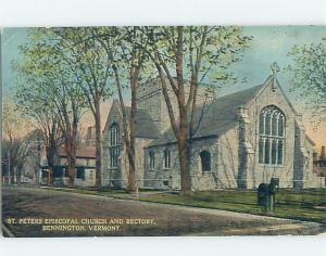 Divided-Back CHURCH Bennington - Near Manchester & Brattleboro Vermont VT G4264