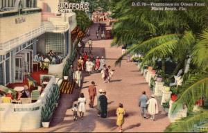Florida Miami Beach Wofford Hotel 1948 Curteich