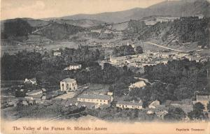 St Michaels Azores Portugal air view Valley of the Furnas antique pc Z23040