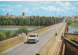 Spain Old Bridge Over Guadiana River Badajoz